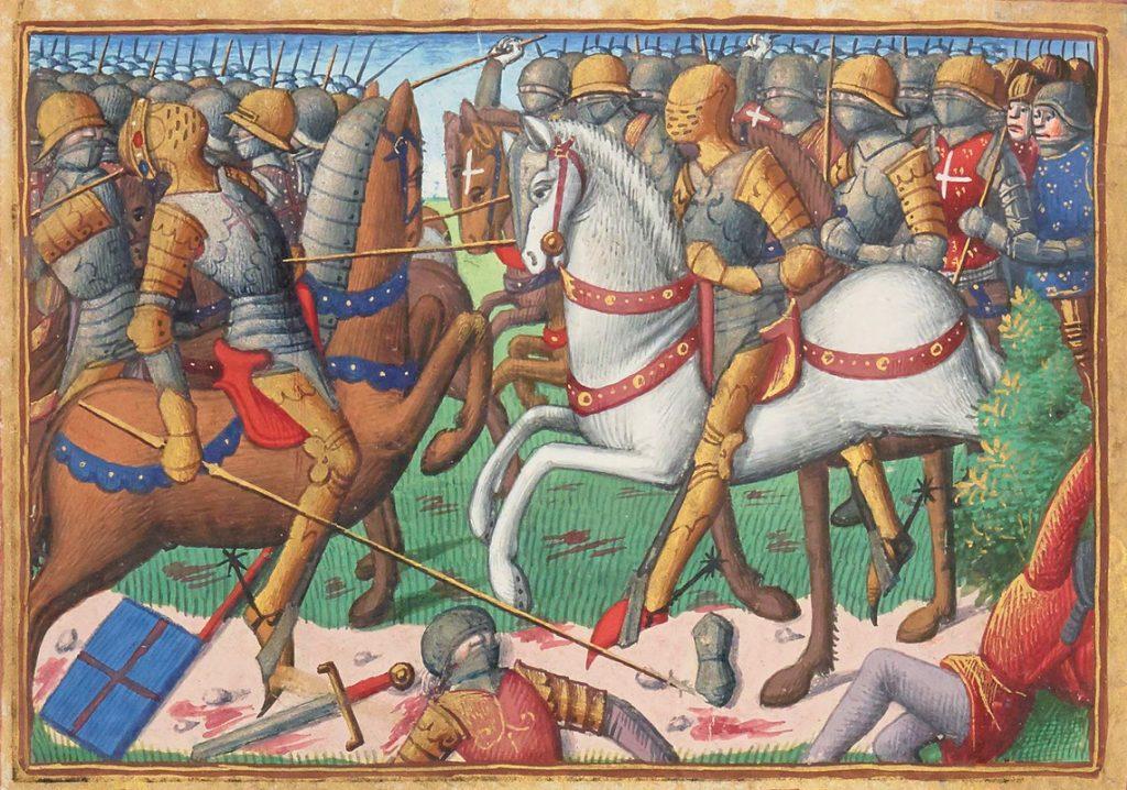 Bataille de Baugé (22 Mars 1421), circa 1484, unknown artist.
