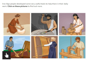 Images of people carrying out various tasks