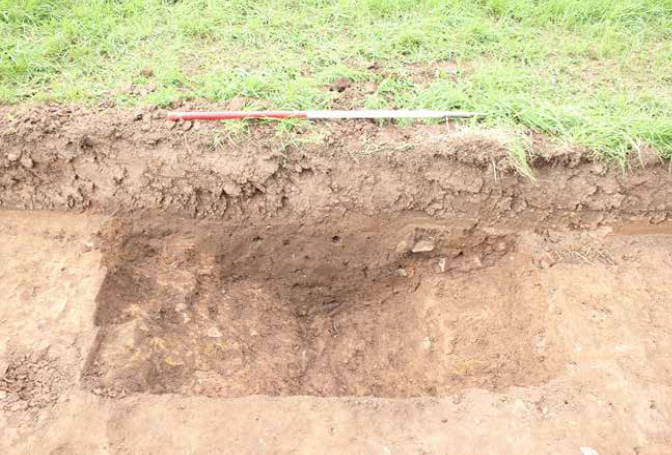 Image of a linear feature after excavation