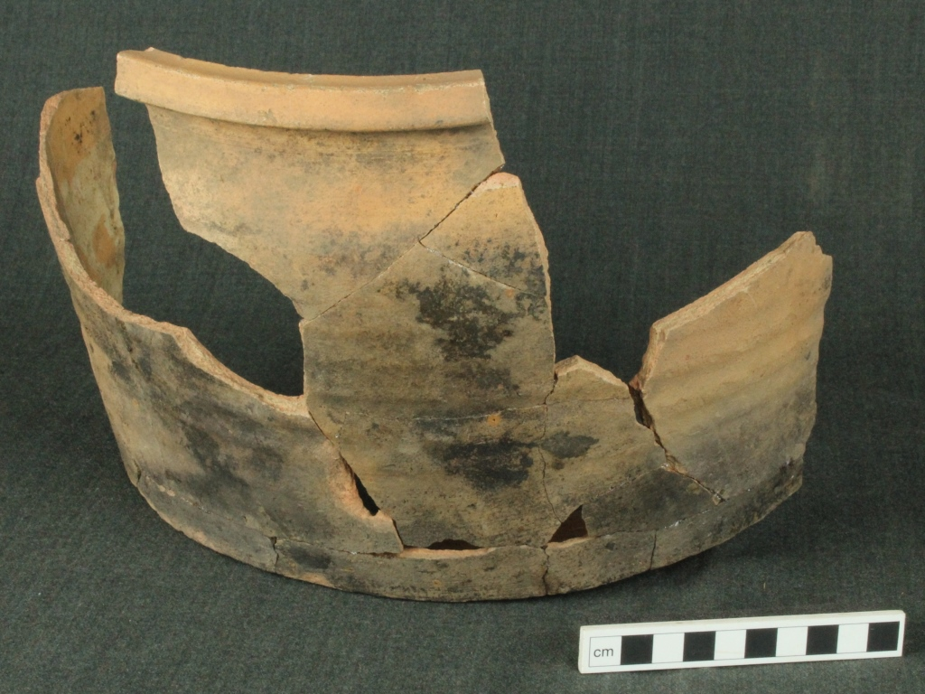 A reconstructed medieval cooking pot