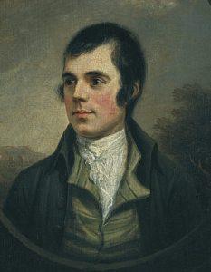 Portrait of Robert Burns, by Alexander Nasmyth, 1787.