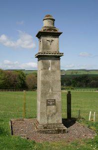 De La Bastie Monument at Broomhouse, near Preston.