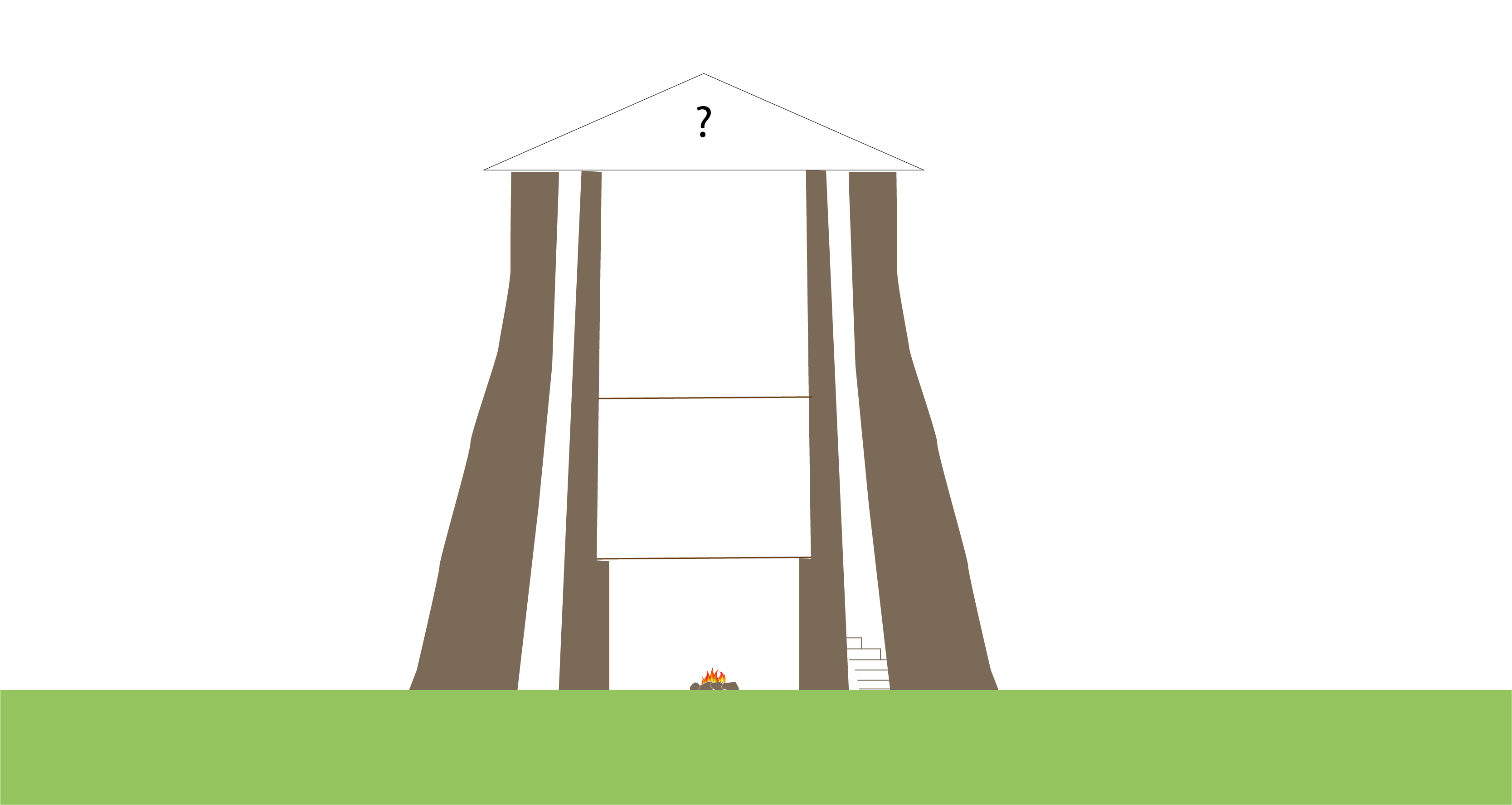 illustration of a tall tower with no roof